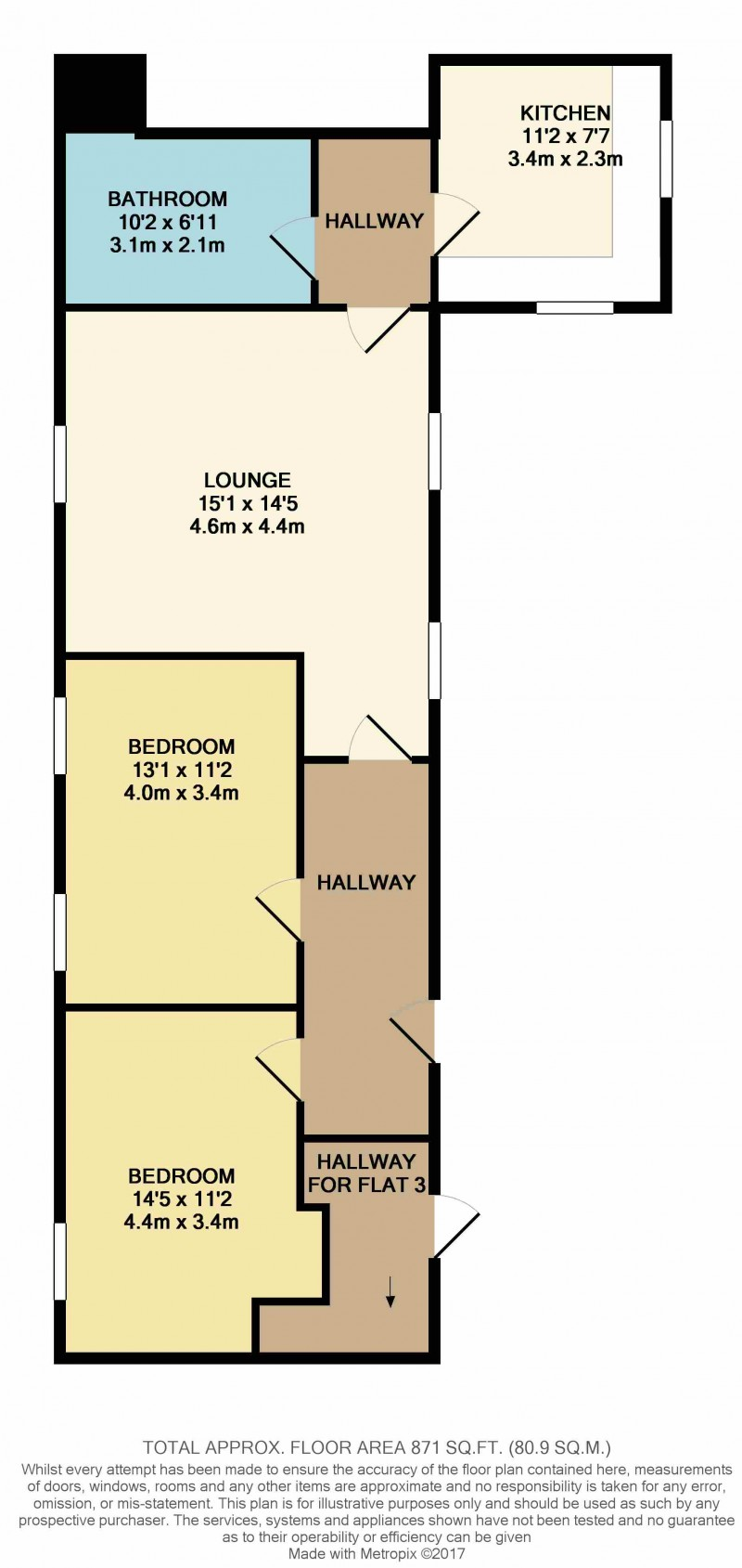 Floorplan for Florence House, Apartment 6